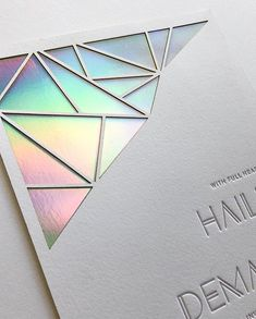 monday magic 🌈 ✨ (and the evolution of an idea) // when I was reached out to create a prismatic themed invitation for I… Flyer Design, Branding Design, Self Branding, Foil Stamping, Typography Logo, Logo Design Inspiration, Holographic, Letterpress, Wedding Cards