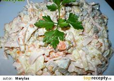 Vlašský salát II recept - TopRecepty.cz Potato Salad, Cabbage, Grains, Salads, Rice, Potatoes, Vegetables, Ethnic Recipes, Food