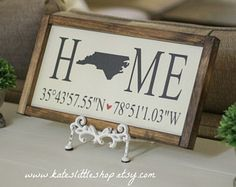 Image result for home sweet home sign with coordinates