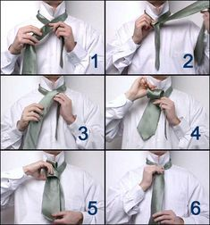 How to tie that tie.