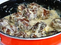 Gluten Free Swedish Meatballs  #theglutenfreespouse - use fresh mashed potatoes instead of potato flakes (about 1 cup mashed) and used about 4 ounces less liquid - use coconut oil also
