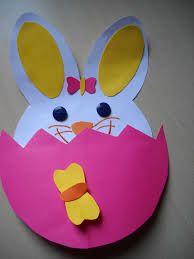 coniglio che esce dall' uovo di Pasqua