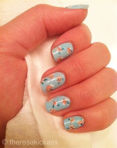 spring nail art - salonfanatic.com