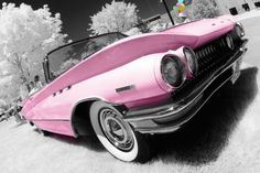 Vintage Pink Automobile art