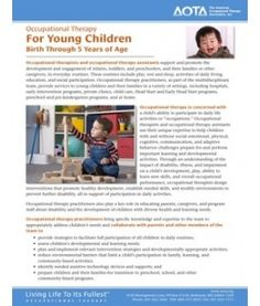 Occupational Therapy  For Young Children  Birth Through 5 Years of Age. Repinned by SOS Inc. Resources.  Follow all our boards at http://Pinterest.com/sostherapy for therapy resources.