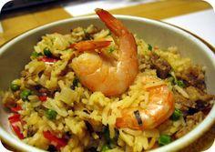 spanish food | beFOODled_food+blog_Spanish+food_paella_rice_shrimp_sausage_peas_red ...