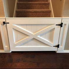 Rustic Dog/ Baby Gate Barn Door Style w/ side panels - Decoration For Home Diy Space, Diy Barn Door, Diy Basement, Half Doors, Home, Diy Door, Barn Door Baby Gate, Dutch Door, Door Gate