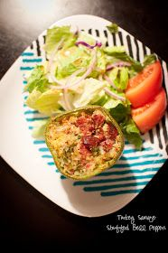 You hunt. I gather.: Stuffed Bell Peppers [Turkey Sausage and Cauliflower]