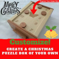 Create A Christmas Themed Magnetic Puzzle Box For Escape Rooms – Creative Escape Rooms Escape Room Themes, Summer Camp Themes, Escape Room Puzzles, Christmas Puzzle, Science Projects For Kids, Pop Up Window, Theme Noel, Puzzle Box, Brain Teasers