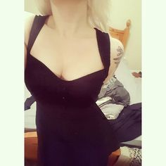 【k0kiri_princ3ss】さんのInstagramをピンしています。 《New dresses, especially ones 50% off, are seriously the best 🙏 #blondehair #blonde #whitehair #bodmods #tattoo #halfsleevetattoo #deertattoo #deer #cherryblossoms #wildlife #pale #new #dress #littleblackdress #blacksmyhappycolour #alternative #girl》