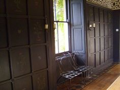 A set of carved wood furniture was left to Chips and I by his aunt, so he designed a room around it. This part of the house dates from the 1600's so we sought to create a similar look of...