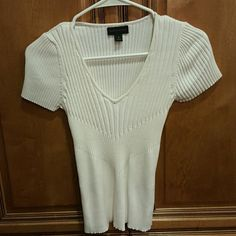 Short sleeve top Stretch ribbed top fits curves sexy Worthington Tops Tees - Short Sleeve