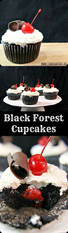 Black Forest #Cupcakes #Chocolate #cupcake #recipes #choctoberfest