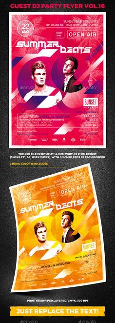 Guest DJ Party Flyer vol.16