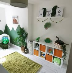 Boys Dinosaur Bedroom, Dinosaur Kids Room, Dinosaur Room Decor, Boy Toddler Bedroom, Big Boy Bedrooms, Boys Bedroom Decor, Toddler Rooms, Diy Boy Room, Toddler Boy Room Ideas