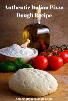Authentic Italian Pizza Dough Recipe - Flour, buttermilk and yeast blend with salt and sugar, to make an old-fashioned type of pizza dough. This classic crust may be topped with any tasty sauce and toppings.