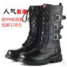 2016 Real Special Offer 2017 Winter Fashion Trend Man High Korean Male Boots England Genuine Leather European