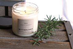 Faun Rosemary Sandalwood 12 oz Jar Soy Candle Rosemary (ad)