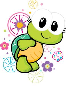 Cute Images, Cute Pictures, Cute Turtles, Bullet Journal Art, Cute Clipart, Baby Cartoon, Baby Kind, Lettering, Cute Illustration