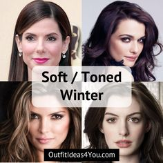 "Go to: Cool Skin Tone > Winter > Toned Winter / Soft Winter You're a Soft Winter! Also known as a ""toned winter"" in the 4x4 color system. You are cool, soft and deep. Cool medium eyes. Deep hair. Go ahead and download your toned winter color palette and order your toned winte"