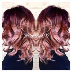 Red violet blush sombre. XoStylistXo Popular Hairstyles, Bob Hairstyles, Medium Lengths, Golden Blonde, Hair Color 2017, Rose Gold Hair, Hair Remedies, Healthy Hair, Your Hair