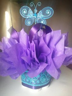 Butterfly mini diaper cakes customize your table by JayLeeDesign, $10.00