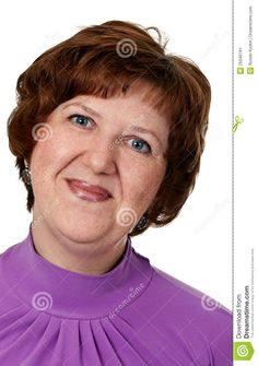 Portrait Of Middle-aged Woman Closeup Stock Image - Image: 20046781