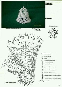 Witam:) To co wczoraj zobaczyłam na swojej tablicy na FB S - SalvabraniCrochet Patterns Christmas Photo only. No pattern - Salvabrani - SalvabraniAnges au crochet Plus - SalvabraniCrochet Bell About tall with threadLearning to knit crochet bells on Crochet Diagram, Crochet Chart, Thread Crochet, Crochet Motif, Crochet Flowers, Crochet Lace, Crochet Snowflake Pattern, Christmas Crochet Patterns, Holiday Crochet