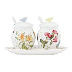 Amazon.com: Lenox Butterfly Meadow 7-Piece Condiment Set: Condiment Pots: Kitchen & Dining
