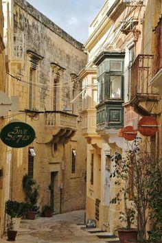 Corner of Birgu in Malta Malta Valletta, Places Around The World, Travel Around The World, Around The Worlds, Vacation Trips, Malta Vacation, Malta Beaches, Malta Island, Europe On A Budget