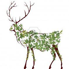 Designer deer illustration