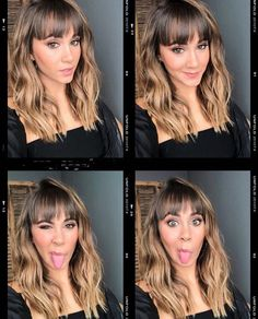 Spring Hairstyles, Hairstyles With Bangs, Pretty Hairstyles, Good Hair Day, Great Hair, Hair Inspo, Hair Inspiration, Medium Hair Styles, Short Hair Styles