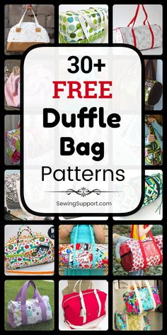 Duffle Bag DIY: Over 30 free duffle bag patterns, tutorials, and diy sewing projects. Many instructions for how to make your own duffle bag. Duffle Bag Patterns, Bag Patterns To Sew, Sewing Patterns, Gifts For Teen Boys, Gifts For Teens, Diy Duffle Bag, Diy Sewing Projects, Hand Warmers, Diy Gifts