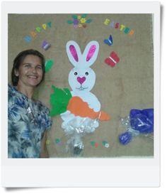 Arte em ensinar e aprender: Happy Easter - Painel em EVA e outros materiais re...