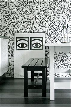 marimekko wallpaper.  photo by hildur blad.