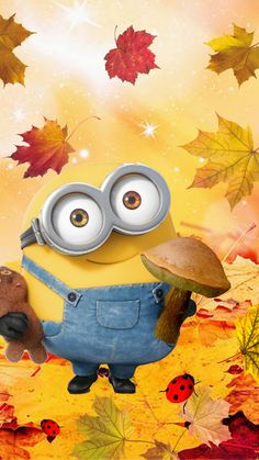 you know the whole truth Leavestory about autumn Fall Time Minion now. Minions Bob, Minions Images, Despicable Minions, Emoji Images, Cute Minions, Minion Pictures, My Minion, Minions Quotes, Cute Disney Wallpaper