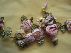 Antique Silk Ribbonwork Floral bouquets original by Bellasoiree, $225.00