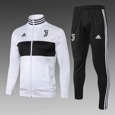 Juventus White(with black) Men Jacket Tracksuit Slim Fit Item Specifics Brand: Adidas Gender: Men's Adult Model Year: Material: Polyester Type of Brand Logo: Embroidered Type of Team Badge: Embroidered Mens Sweat Suits, White Tracksuit, Football Shirts, Sports Jerseys, Men's Football, Jersey Shirt, Sport Wear, White Man, Casual Tops