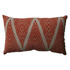 This rectangular pillow adds a pop of color to your room with its intricate burgundy and gray design. Featuring a 100 percent cotton cover with virgin polyester filling, this throw pillow is a great choice for waking up the decor in your living room.