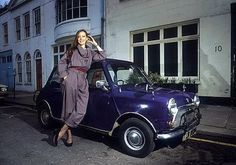Jenny Agutter and her Mini Cooper