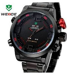 BRAND: WEIDE ITEM: WH2309 STYLE: SPORT,CASUAL,BUSINESS,OUTDOOR DISPLAY: ANOLOG-LED DIGITAL Movement: Original JAPAN Quartz + LED digital movement Features: -The All WEIDE(WH2309) Analog-digital LED Display Sporty watch is available in 6 versions -Alarm Led Mode Included -Original JAPAN MIYOTA Quartz Movement with SEIKO S626 Battery -Watch crown with enviromental IPS bronze electroplating -Watch dial with Hi-tech …
