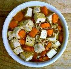 Coconut-Lime Chicken Tofu-Noodle Soup | Soup | Pinterest | Tofu ...