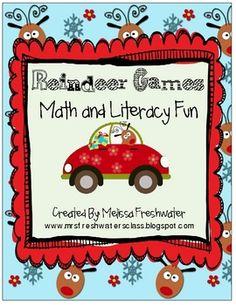 Reindeer http://www.teacherspayteachers.com/Product/Reindeer-Games-Math-and-Literacy-Fun