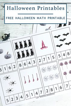 Download this FREE printable Halloween Math Activity Sheet from Everyday Party Magazine today! #Math #HalloweenActivity #FreePrintable