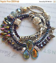 ON SALE amethyst bracelet artisan bracelet by soulfuledges on Etsy