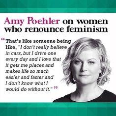 Amy Poehler On Women Renounce Feminism!
