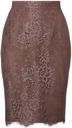 LK Bennett // Brown Essie Skirt.