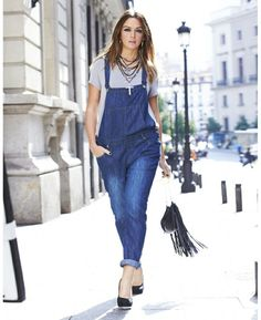 Simply Be Plus Size Denim Overalls on The Curvy Fashionista Denim Dungarees Outfit, Denim Romper, Curvy Fashion, Denim Fashion, Plus Size Fashion, Curvy Outfits, Plus Size Outfits, Mix And Match Fashion, Plus Size Inspiration