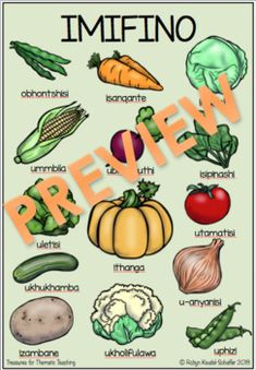 IsiZulu Fruit and Vegetables Posters/ izithelo, Imifino Zulu Language, Afrikaans Language, Different Fruits And Vegetables, English Writing Skills, Banting, Languages, Posters, Teaching, Winter