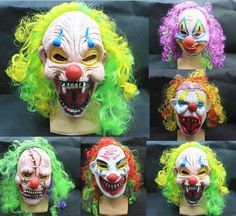 Best Quality New Halloween Clown Masks Party Supply Latex Full Face Mask Party Masks Clown Funny Hilarious Corlorful Jester/Jolly Mask With Hair Hm94 At Cheap Price, Online Party Masks | Dhgate.Com
